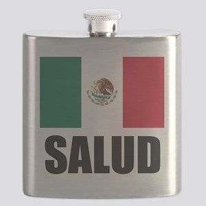 Salud Mexican Drinking Glass Flask