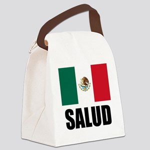 Salud Mexican Drinking Glass Canvas Lunch Bag