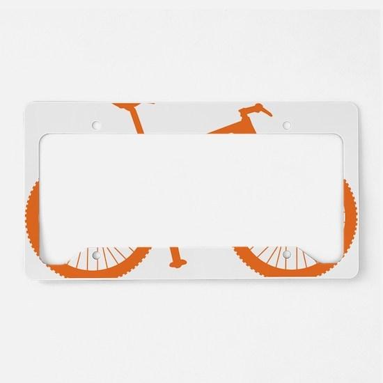 BOMB_orange License Plate Holder