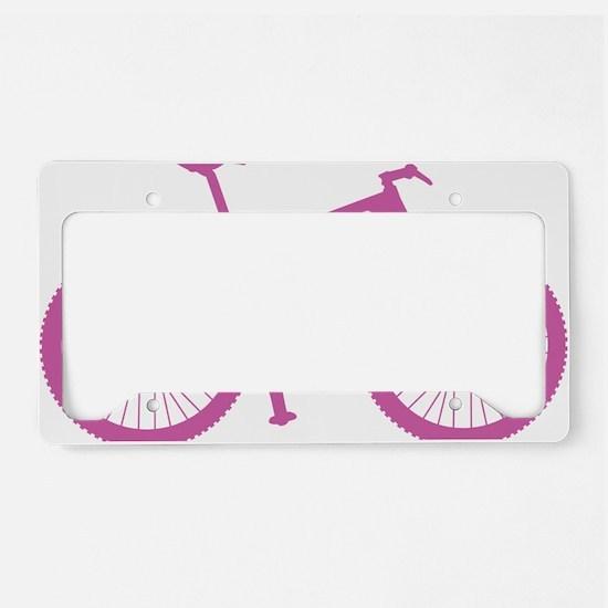 BOMB_pink License Plate Holder