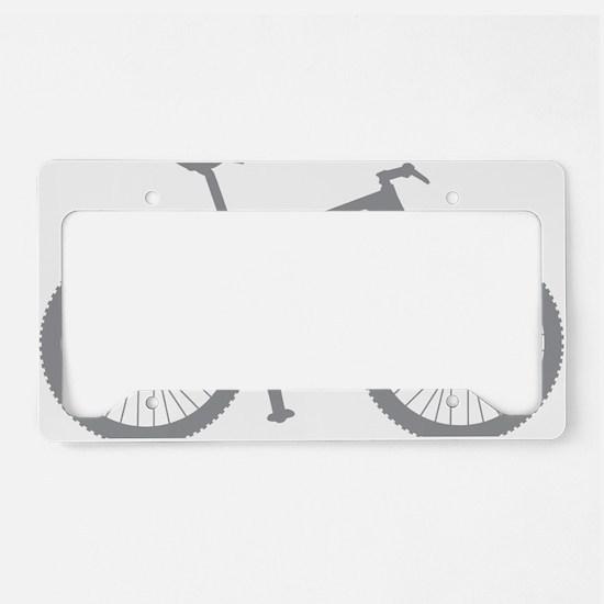 BOMB_gray License Plate Holder