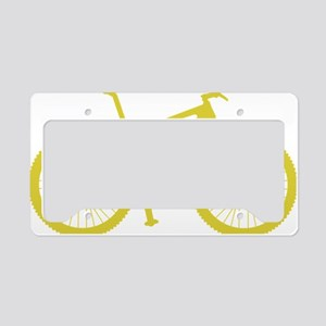 BOMB_yellow License Plate Holder