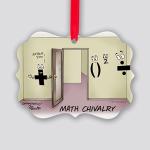 Pi_68 Math Chivalry (7.5x5.5 Colo Picture Ornament