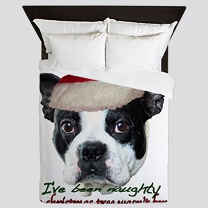 Naughty dog Queen Duvet