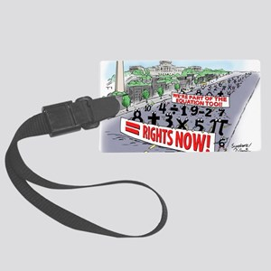 Pi_74 Equal Rights (20x16 Color) Large Luggage Tag