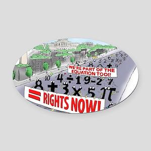 Pi_74 Equal Rights (20x16 Color) Oval Car Magnet