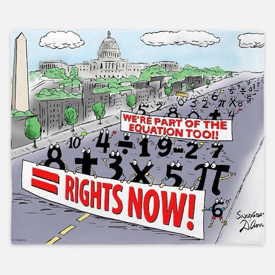 Pi_74 Equal Rights (20x16 Color) King Duvet