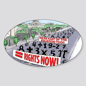 Pi_74 Equal Rights (20x16 Color) Sticker (Oval)