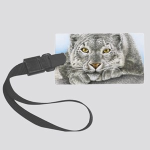 Snow Leopard (shoulder bag) Large Luggage Tag