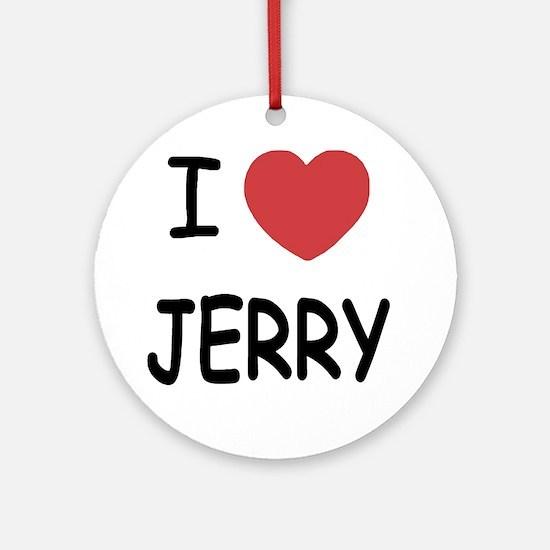 JERRY Round Ornament