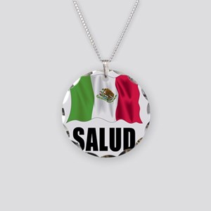 Salud Shot Glass Necklace Circle Charm
