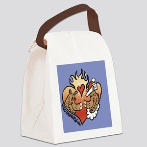 javelinaheart2 Canvas Lunch Bag