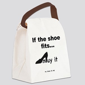 SHOES Buy- bw Canvas Lunch Bag