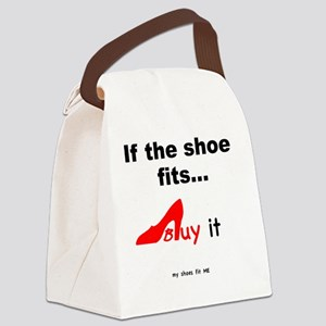 SHOES Buy- red Canvas Lunch Bag