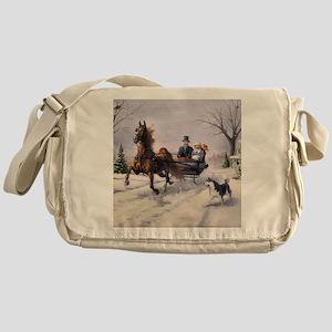 Dashing Through the Snow Messenger Bag