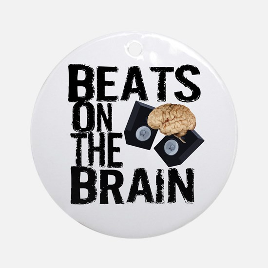 Beats on the Brain Ornament (Round)