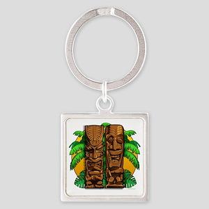 Tiki Gods Square Keychain