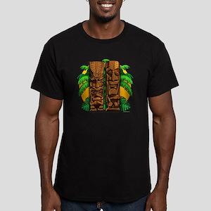Tiki Gods Men's Fitted T-Shirt (dark)