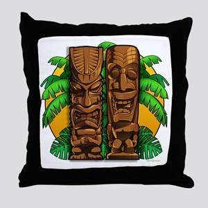 Tiki Gods Throw Pillow