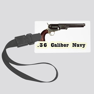 navy Large Luggage Tag