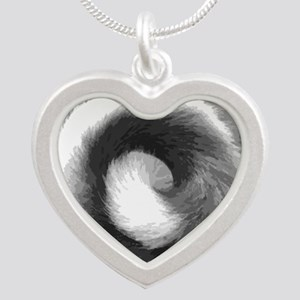 TailPillow2 Silver Heart Necklace
