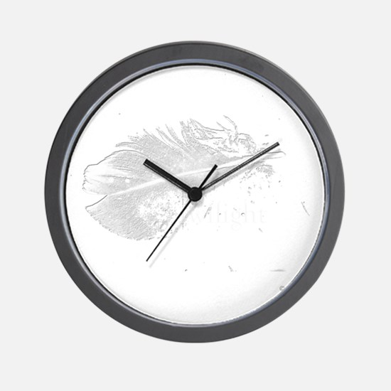 twilight feather shirt by twibaby copy Wall Clock