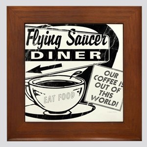 Flying Saucer Diner Framed Tile