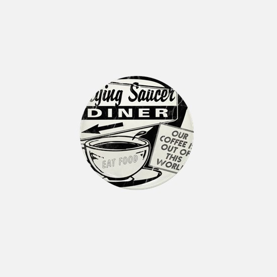 Flying Saucer Diner Mini Button