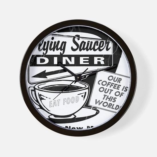 Flying Saucer Diner Wall Clock