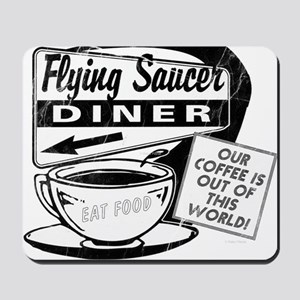 Flying Saucer Diner Mousepad