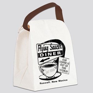 Flying Saucer Diner Canvas Lunch Bag