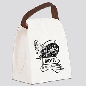 Flamingo Motel Canvas Lunch Bag