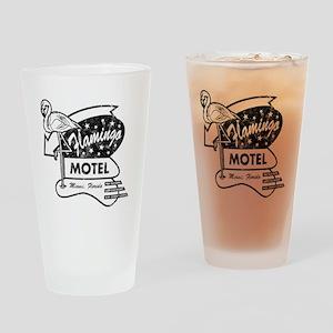 Flamingo Motel Drinking Glass