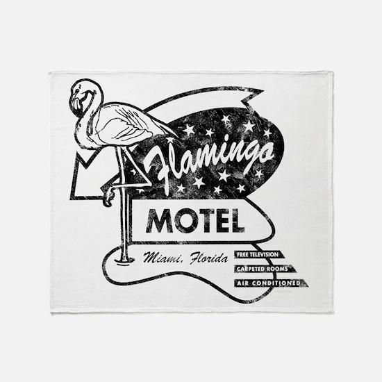 Flamingo Motel Throw Blanket