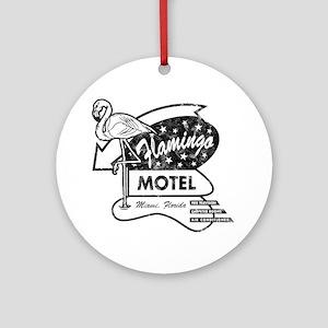 Flamingo Motel Round Ornament