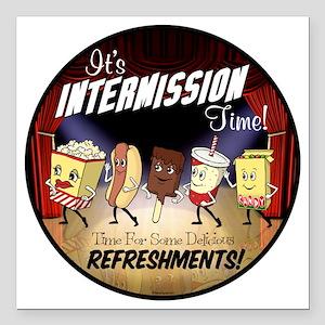 "Intermission Time Square Car Magnet 3"" x 3"""