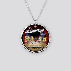 Intermission Time Necklace Circle Charm