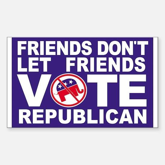 Anti-Republican Decal