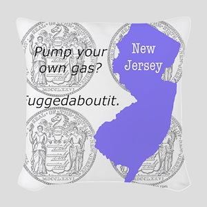 New Jersey Woven Throw Pillow