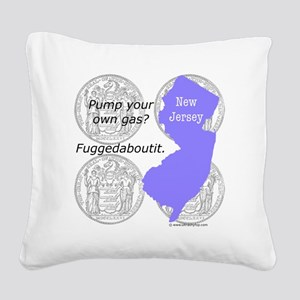 New Jersey Square Canvas Pillow