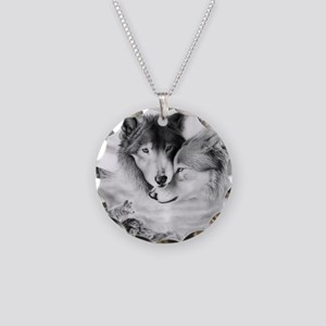 wolfmates Necklace Circle Charm