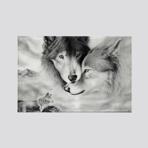 wolfmates Rectangle Magnet