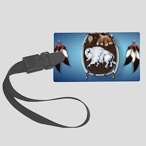 2a-ClutchBag White Buffalo Shiel Large Luggage Tag