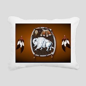 purse Whie Buffal brown Rectangular Canvas Pillow