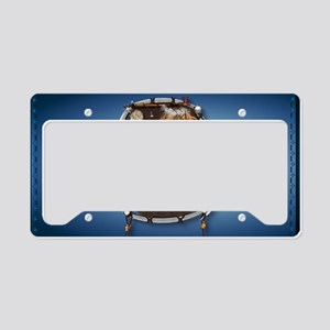 purse Whie Buffal blue License Plate Holder
