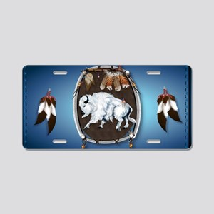 purse Whie Buffal blue Aluminum License Plate