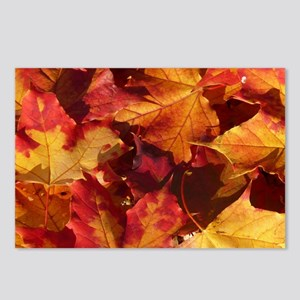 Autumn Thanksgiving Leaves Postcards (Package Of 8