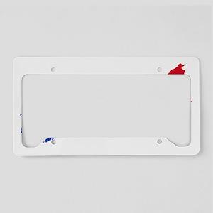 NSmask wide Acadia flag trans License Plate Holder