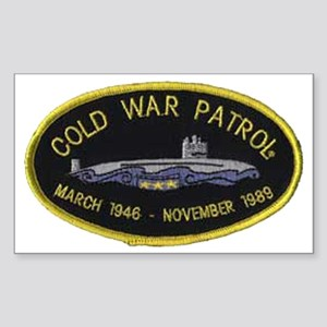Cold War Patrol Patch Sticker (Rectangle)
