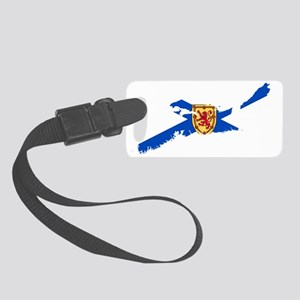 NSmask wide NS flag trans Small Luggage Tag